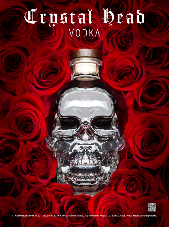 Crystal Skull Head Vodka Original Concept Ad